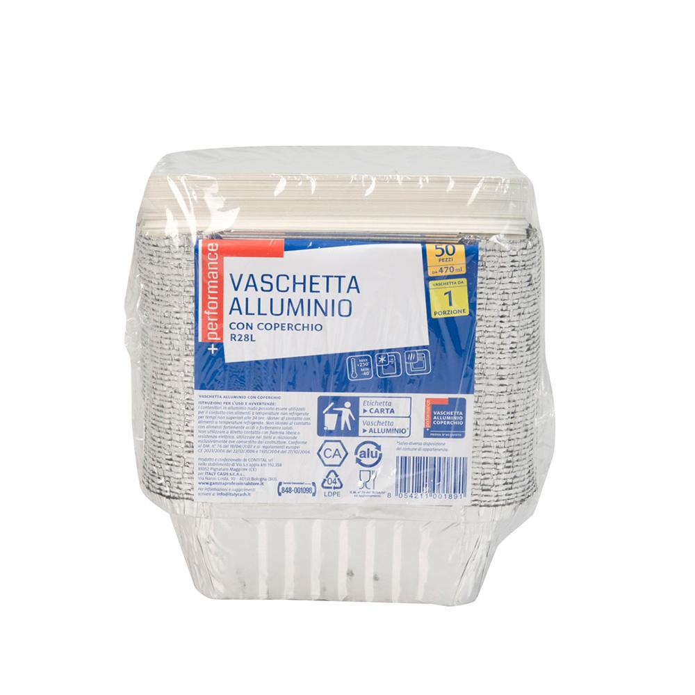 Contenitori Alluminio Con Coperchio 1 Porzione - ItalyCash